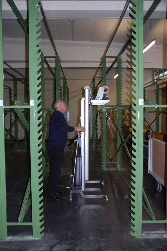 Dispozitive / carucioare de pozitionare EdmoLift Romania WP 205 - Manipulare rulouri lungi