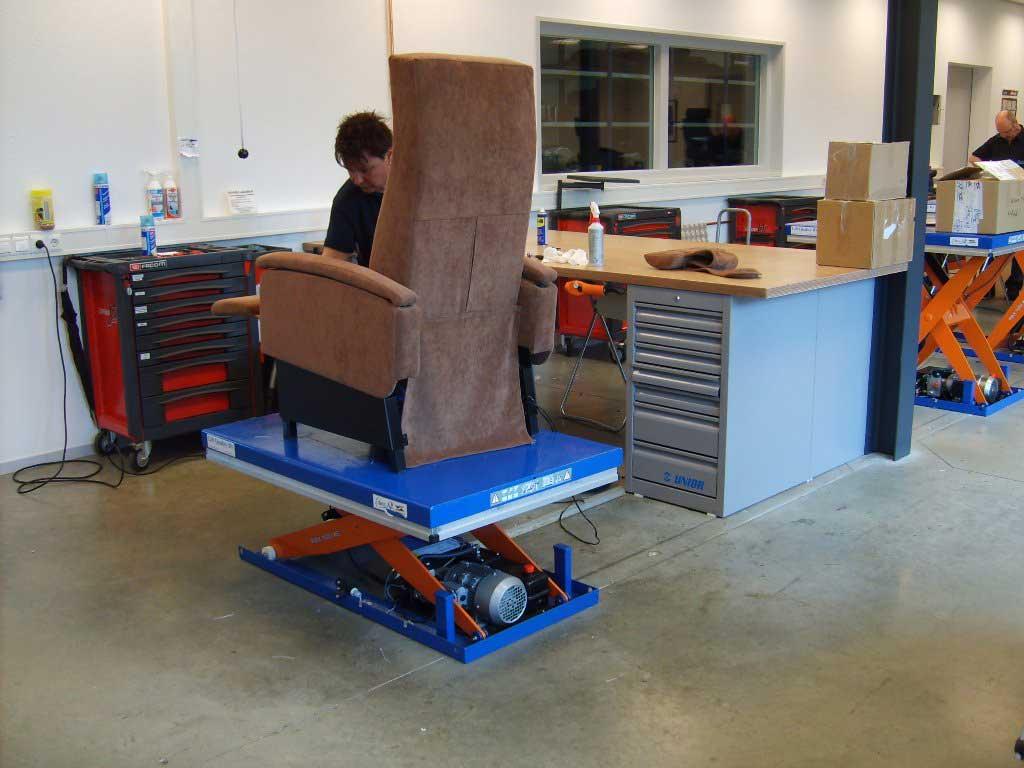 Mese / Platforme hidraulice ridicatoare EdmoLift Romania CL 1001 - atelier reconditionare mobila