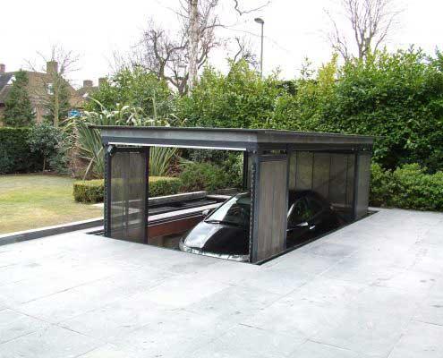 Platforma hidraulica EdmoLift Romania TF 3000 garaj subteran