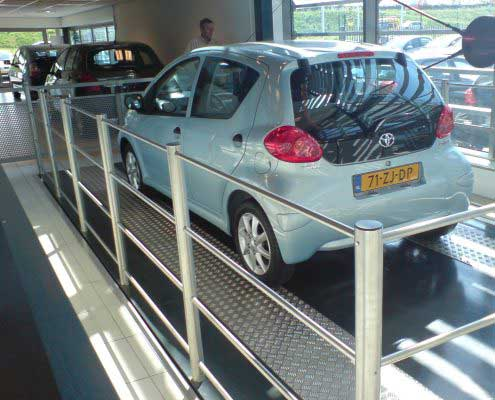 Platforma hidraulica EdmoLift Romania TF 3000 Showroom auto