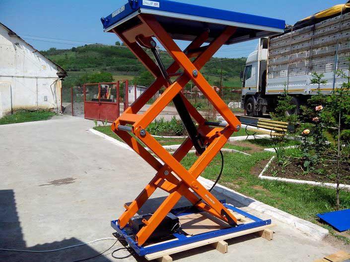 Mese hidraulice cu foarfece duble EdmoLift - TMD 1500
